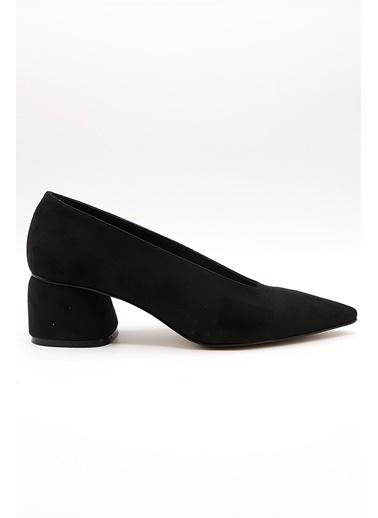 La scada La Scada Mr810 Saten Kadın Abiye Ayakkabı Siyah